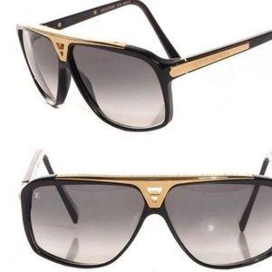 76afb18560 Louis Vuitton Accessories - Louis Vuitton Evidence Black Sunglasses Z0350w